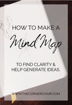 How To Make A Mind Map to find Clarity & help generate ideas! Click to read more...