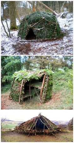 Building A Small Shelter Homesteading #survivalskills #outdoorsurvival