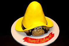 curious george yellow hat cake - Google Search