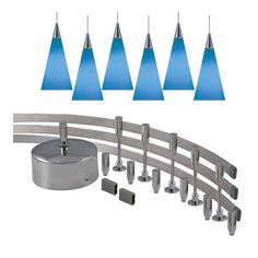 Jesco 6-light 300-watt Low Volt Complete Monorail Pendant Kit