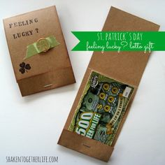 Feeling lucky? St. Patricks Day lotto gift at shakentogetherlife.com