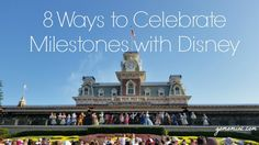 I can't think of a better way to mark those big life moments than celebrating with pixie dust.  In fact my list of Disney Experiences that would make special milestones even more amazing is long and magical =) NEW! 8 Ways to Celebrate Milestones with Disney | gomominc.com