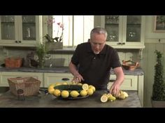 How to Create a Fruit and Flower Arrangement... using Fresh Lemons, Roses and Delphinium! - YouTube