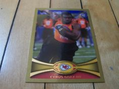 #2012Topps 146 #CyrusGray #RC #Gold Border Rookie #ParallelCard Numbered 2012   #eBay #KansasCityChiefs