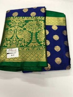 We offer high quality range of cotton silk sarees. This saree comprises of length blouse piece. Look dashing in this traditional saree. This saree has contrast colour border With Jacquard Border and Rich Pallu. Saree fabric is soft . Mysore Silk Saree, Silk Saree Kanchipuram, Banarasi Sarees, Silk Sarees, Kanjipuram Saree, Net Saree, Bollywood Saree, Kurta Designs, Saree Blouse Designs