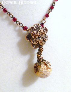 TUTORIAL  - Little Celtic Tree Necklace - Wire Jewelry Tutorial - Wire Wrapped Tree of Life - PDF Instantly Available