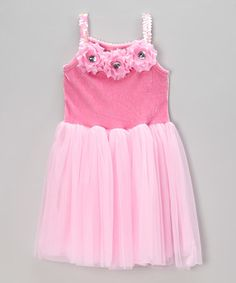 Another great find on #zulily! Pink Sequin Rosette Dress - Toddler #zulilyfinds