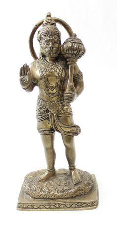 Mighty Hanuman Brass Statue