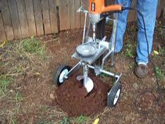 Drill Driven Posthole Digger