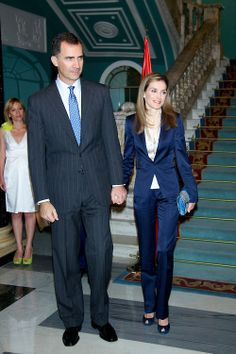 Spanish King Felipe VI and Queen Letizia attend a Meeting with representatives of associations and foundations of victims of terrorism at Palacio de Zurbano, 21.06.2014 in Madrid