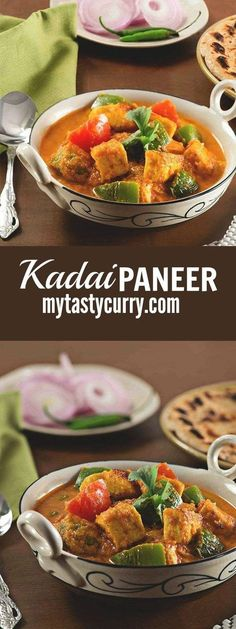 "Punjabi Kadai paneer recipe, a quick and easy recipe with step by step youtube video. This is very aromatic and delicious Kadai paneer gravy also known as kadhai paneer recipe.Indians love Paneer, most of us know this already. If you are a chef or a cooking expert you know how many Times we are asked ""Can I substitute this with paneer"" however frustrating we may find this but this highlights the fact that Paneer is the most popular substitute for the meat for vegetarians. This easy Indian…"