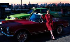 Christina Ricci is the very image of elegance in a red trench coat and sunglasses for S Moda magazine February 2016