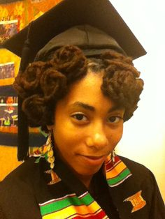 natural hairstyles with marley hair : graduation hairstyles