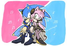 Sonic as Kaito and Amy as Luka♡                                                                                                                                                                                 Más