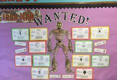 Literacy the Iron Man Ted Hughes Robot Classroom, Classroom Displays, Classroom Ideas, Iron Man Book, Iron Man Art, Iron Man Ted Hughes, Talk 4 Writing, The Wild Robot, Reading Areas