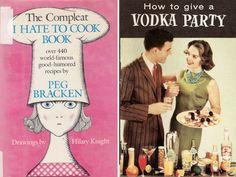 Retro cookbooks with killer titles