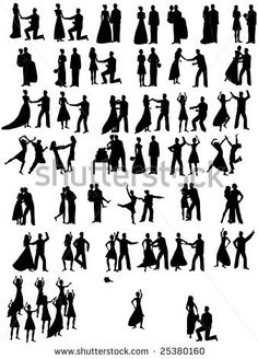 stock-vector-lot-of-wedding-couples-silhouettes-25380160.jpg 338×470 pixels
