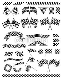 Start Flag Vector Checkered flag vector