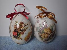 easter eggs - decoupage, handmade by Joanna