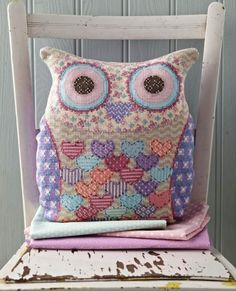 """Photo from album """"Cross Stitch Collection 220 март on Yandex. Cross Stitch Owl, Cross Stitch Pillow, Cross Stitch Kitchen, Cross Stitch Boards, Cross Stitch Animals, Cross Stitch Kits, Cross Stitch Designs, Cross Stitching, Cross Stitch Embroidery"""