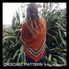 Crochet Shawl Pattern  Instant Download  Sunday door TheLittleBeeNZ