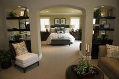 If I had all that space in my room I would set up the perfect atmosphere......and I would never leave.