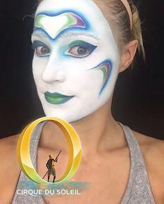#Nage PR makeup! 💁🏼💄💋🐠 #cirquemakeup #cirquedusoleil #cirque #obycirque #obycirquedusoleil #makeup
