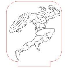 Capitan America 3d illusion lamp vector file for CNC - 3bee-studio