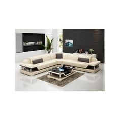 Canti Italian Leather Sectional via Polyvore featuring home, furniture, sofas, italian leather sectional, italian leather furniture, italian leather couches and italian leather sofa