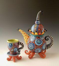 Fabulous tea pot by Natalya Sots