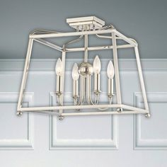 Shop for Polished Nickel Semi-Flush Mount - Polished Nickel. Get free delivery On EVERYTHING* Overstock - Your Online Ceiling Lighting Store! Lighting Store, Polished Nickel, Kitchen Design, Home And Garden, Ceiling Lights, Cleaning, Simple, Interior, Modern