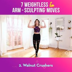 I always 💗 a good arm workout...especially if I can get that burn WEIGHTLESSLY! You can do these literally anywhere - in your living room,…