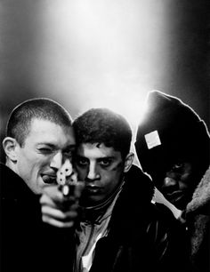 Another gem. La Haine (French pronunciation: [la ʔɛn], 'hate') is a 1995 French black-and-white drama/suspense film written, co-edited, and directed by Mathieu Kassovitz. It is commonly released under its French title in the English-speaking world, although its U.S. VHS release was entitled Hate. It is about three young friends and their struggle to live in the banlieues of Paris.