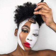 Sfx makeup, costume makeup, makeup art, beauty makeup, theatrical m Cool Makeup Looks, Creative Makeup Looks, Halloween Makeup Looks, Crazy Makeup, Cute Makeup, Fancy Dress Makeup, Pretty Halloween, Scary Halloween, Makeup Goals