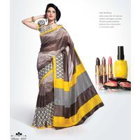 Buy Tranquil White printed Saree online - Shoppervilla