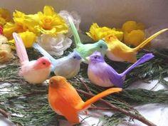 Pastel Artificial Birds