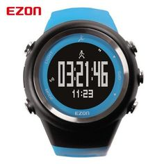 [free ship] EZON GPS Outdoor Running Sports Watch Waterproof Pedometer Calorie Counter Digital Men Women Military Wristwatch 2016 New ~ buy watch Running Gps, Running Watch, Running Sports, Running Distance, Mens Skeleton Watch, Best Sports Watch, Couple Watch, Calorie Counter, Automatic Watches For Men