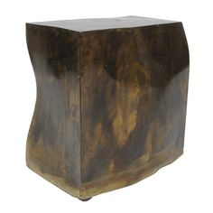 Rare Phillip and Kelvin Laverne Side Table USA 1965 Rare side table designed by Philip and Kelvin Laverne. Bronze on wheels