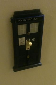 Doctor Who light switch cover