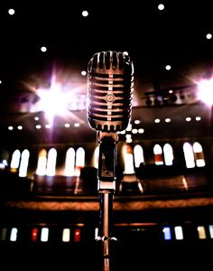 Vintage Microphone- Nashville Ryman Auditorium The Original Old Grand Ole Opry Stage View Karaoke, Ouran Highschool Host Club, Musica Disco, Trumpet Players, Instruments, Grand Ole Opry, Any Music, Music Music, Music Lyrics