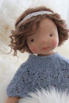 Maïwenn from 'Les Bigoudènes' by North Coast Dolls Doll Head, Doll Face, Girl Dolls, Baby Dolls, Homemade Dolls, Sewing Dolls, Knitted Dolls, Crochet Dolls, Waldorf Dolls