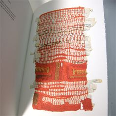 """Sheila Hicks: Weaving as Metaphor"" designed by Irma Boom won the ""Most Beautiful Book in the World"" prize at the Leipzig Book Fair in 2007"