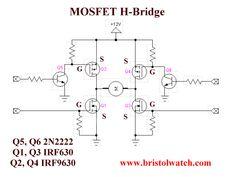 Power MOSFET H-Bridge basic circuit.