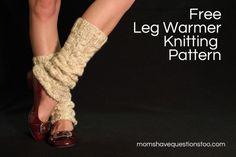 Chunky Cabled Legwarmers/Boot Socks: free knitting pattern