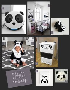 A black and white themed nursery is fitting for any mod tot! Check out these precious panda-inspired ideas! Nursery Themes, Nursery Room, Themed Nursery, Bedroom, Baby Boy Rooms, Baby Boy Nurseries, Panda Kindergarten, Baby Panda Bears, Baby Pandas