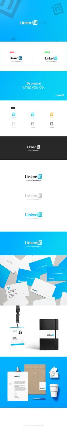 LinkedIn Logo Concept and Re-Branding on Behance