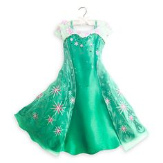 Modify plain dress: xtra soft tulle from fabric store, use fabric paint to draw flowers on the cape( light teal and pink) real flowers on the bodice/neckline