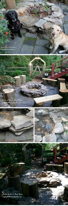Check out the tutorial on how to make a DIY stacked stone fire pit @istandarddesign