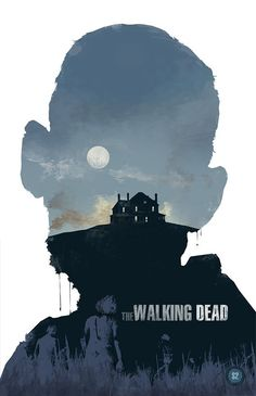 The Walking Dead Posters. Three zombie poster illustrations of The Walking Dead by Big Bad Robot the imagery by Michael Rogers. This poster series is