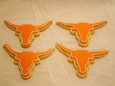 Longhorn cookies... I need to make these for my mom.